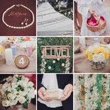 Collage of nine wedding photos Royalty Free Stock Photography