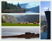 Collage - Norvegia Fotografia Stock Libera da Diritti