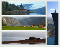 Collage - norway Royaltyfri Fotografi