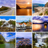 Collage of Norway travel images (my photos) royalty free stock image