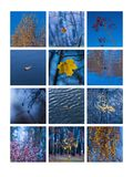 Collage November Arkivfoto