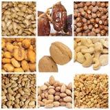 Collage Nuts Fotografia Stock Libera da Diritti