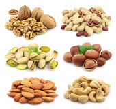 Collage of nuts Stock Photography