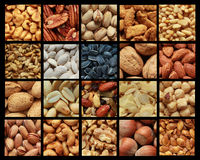 Collage Nuts Photo stock