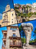 Collage of o Cuenca Spain Europe. Collage of o Cuenca Spain Europe Royalty Free Stock Photo