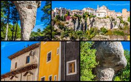 Collage of o Cuenca Spain Europe. Collage of o Cuenca Spain Europe Stock Images