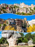Collage of o Cuenca Spain Europe. Collage of o Cuenca Spain Europe Stock Photos