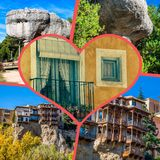 Collage of o Cuenca Spain Europe. Collage of o Cuenca Spain Europe Royalty Free Stock Images