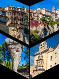 Collage of o Cuenca Spain Europe. Collage of o Cuenca Spain Europe Royalty Free Stock Photos
