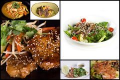 Collage Of Appetizers And Salads Stock Photos