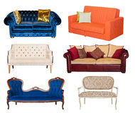 Free Collage Of Different Sofa Isolated Royalty Free Stock Photography - 92143977