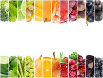 Free Collage Of Fresh Fruits And Vegetables Stock Photos - 78367123