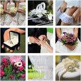 Collage Of Nine Wedding Color Photos Royalty Free Stock Photos