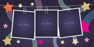 Free Collage Of Photo Frames, Scrapbook Vector Illustration, Background Royalty Free Stock Image - 104928776
