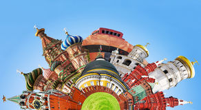 Free Collage Of Sights Of Moscow Stock Photos - 25563503