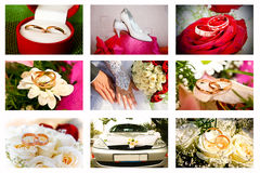 Collage Of Wedding Royalty Free Stock Image
