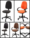 Collage of Office chairs royalty free stock image