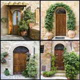 Collage with old italian doors. Collage Royalty Free Stock Image