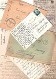 Collage of old letters Royalty Free Stock Photos