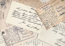 Collage of old letters stock images