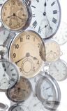 Collage of old style clocks Stock Photos