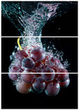 Collage with one single photo of a grape fruit Royalty Free Stock Image