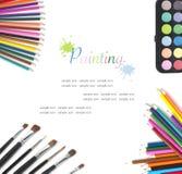 Collage op het thema van het schilderen Met ruimte voor tekst Royalty-vrije Stock Fotografie