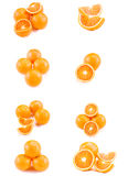 Collage with oranges Royalty Free Stock Photo