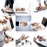 Collage orienté d'affaires photos stock