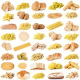 Original italian pasta and bread collage. Collage of original italian pasta and bread Royalty Free Stock Photography