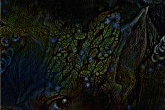 Collage ornamentale della foglia, illustrazione capa dei gioielli Immagine Stock