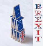 Collage på begrepp för folkomröstning för händelseJuni 23 Brexit UK EU: skall t Fotografering för Bildbyråer