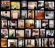 Collage på temat av möblemang royaltyfri fotografi