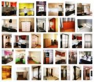 Collage på temat av möblemang arkivfoto