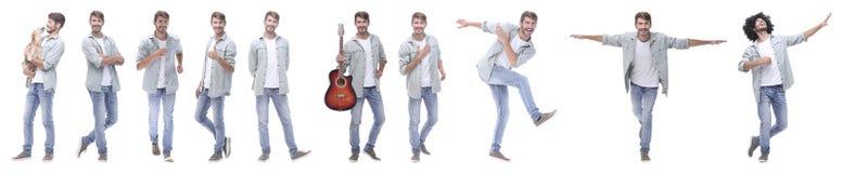 Collage panoramique des jeunes menant un mode de vie sain photos stock