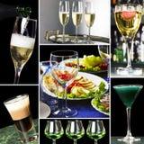 Collage para el asunto de restaurante Fotografía de archivo libre de regalías