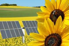 Collage para la energía renovable Foto de archivo