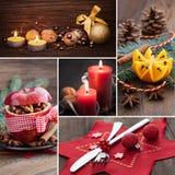 Collage para la Navidad Foto de archivo libre de regalías