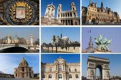 collage paris Fotografering för Bildbyråer