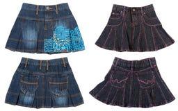 Collage a partir de cuatro faldas femeninas imagen de archivo