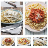 Collage pasta Royalty Free Stock Photo