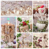 Collage of pastel decorations Stock Image