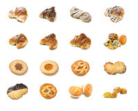 Collage of pastry royalty free stock photos