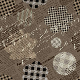 Collage pattern with newspaper Royalty Free Stock Images