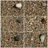 Collage of pebbles Royalty Free Stock Image