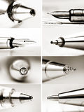 Collage of pen tips Stock Photo