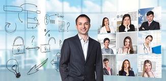 Collage of people from different professions Royalty Free Stock Photography