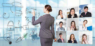 Collage of people from different professions Royalty Free Stock Photos