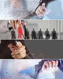 Collage of photo business strategy Royalty Free Stock Photos