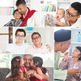 Collage photo of fathers and children Royalty Free Stock Photo